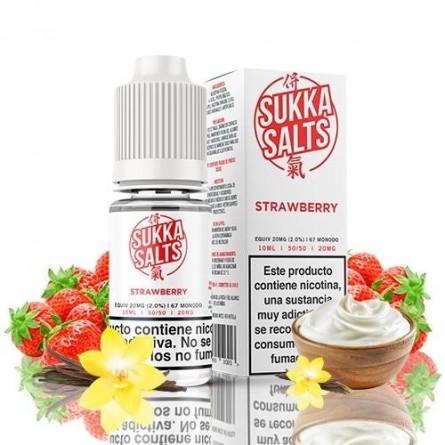 STRAWBERRY 10MG NIC SALT 10ML - SUKKA SALTS